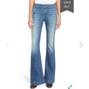 Rag & Bone High Rise Bell Bottom Trouser Jeans